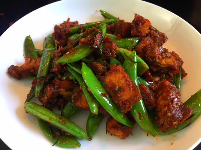Thai crispy pork belly stir fry recipe